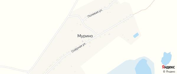 Озерная улица на карте деревни Мурино с номерами домов