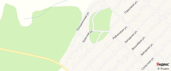 Красная улица на карте Миасского села с номерами домов