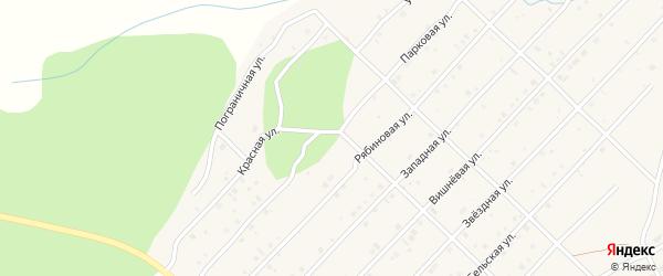 Парковая улица на карте Миасского села с номерами домов