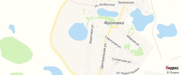 Береговая улица на карте деревни Фроловки с номерами домов