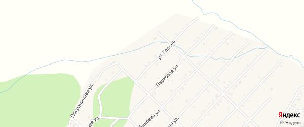 Улица Героев на карте Миасского села с номерами домов