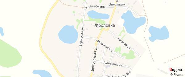 Северная улица на карте деревни Фроловки с номерами домов