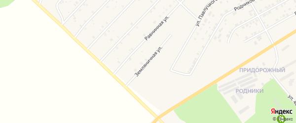 Земляничная улица на карте Миасского села с номерами домов