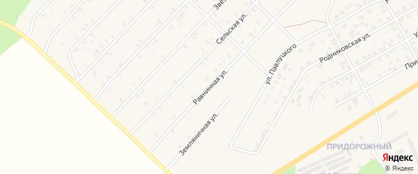 Равнинная улица на карте Миасского села с номерами домов