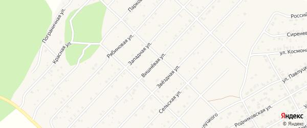 Вишневая улица на карте Миасского села с номерами домов