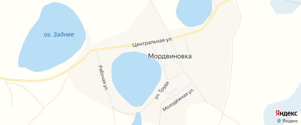 Карта села Мордвиновки в Челябинской области с улицами и номерами домов