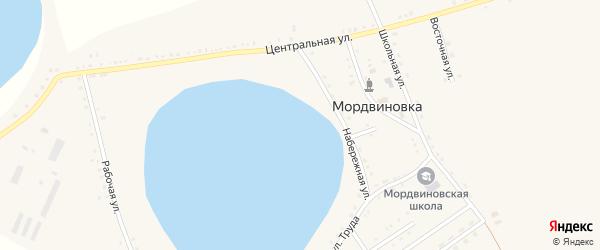 Целинная улица на карте села Мордвиновки с номерами домов