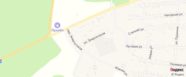 Улица Энергетиков на карте Миасского села с номерами домов