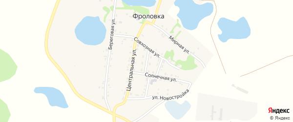 Совхозный переулок на карте деревни Фроловки с номерами домов