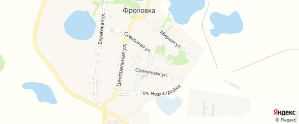 Солнечный переулок на карте деревни Фроловки с номерами домов