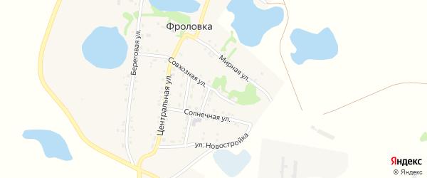 Совхозная улица на карте деревни Фроловки с номерами домов