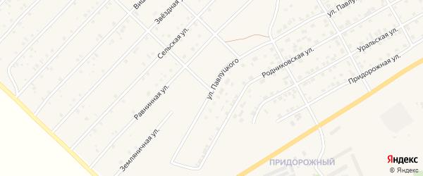Улица Павлуцкого на карте Миасского села с номерами домов