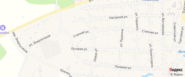 Новая улица на карте Миасского села с номерами домов