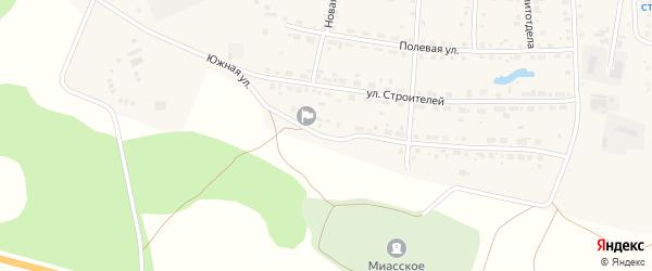 Южная улица на карте Лугового поселка с номерами домов