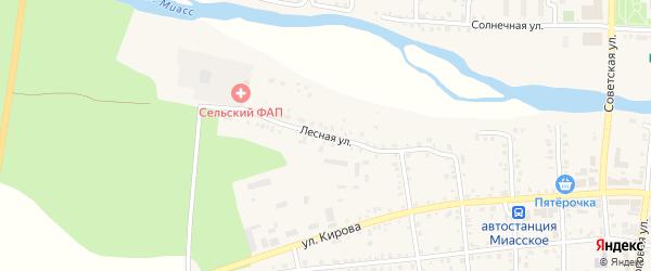 Лесная улица на карте Миасского села с номерами домов