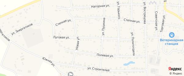 Луговая улица на карте Миасского села с номерами домов