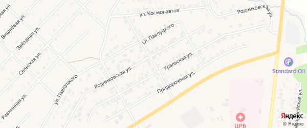 Калиновая улица на карте Миасского села с номерами домов