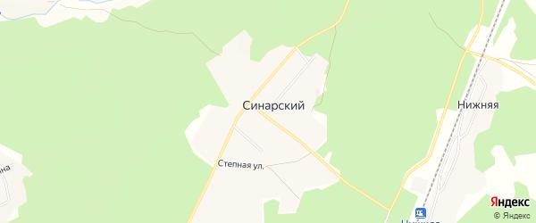Карта Синарского поселка в Челябинской области с улицами и номерами домов
