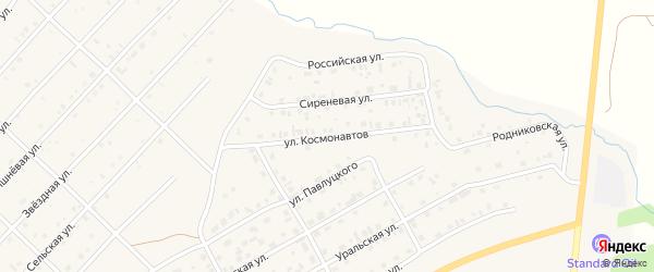 Улица Космонавтов на карте Миасского села с номерами домов