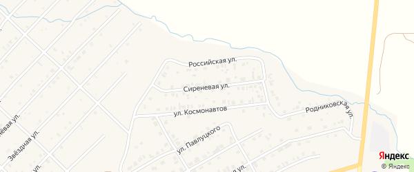 Сиреневая улица на карте Миасского села с номерами домов