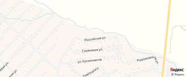 Российская улица на карте Миасского села с номерами домов