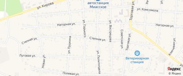 Степная улица на карте Миасского села с номерами домов