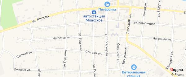 Улица Политотдела на карте Миасского села с номерами домов