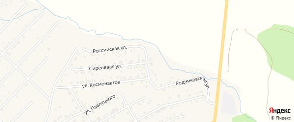 Весенний переулок на карте Миасского села с номерами домов