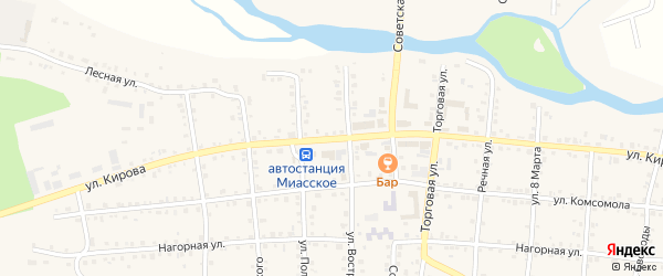 Улица Кирова на карте Миасского села с номерами домов