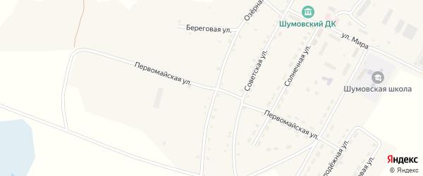 Первомайская улица на карте села Шумово с номерами домов