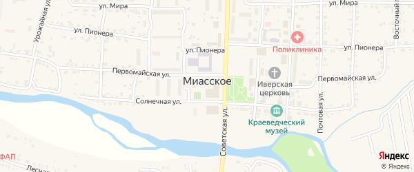 Территория сдт 1 Сад на карте Миасского села с номерами домов