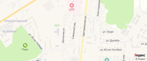 Северный переулок на карте Миасского села с номерами домов