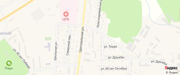 Станичный переулок на карте Миасского села с номерами домов