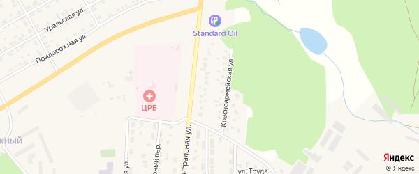 Красноармейская улица на карте Миасского села с номерами домов
