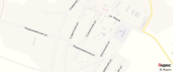 Солнечная улица на карте села Шумово с номерами домов