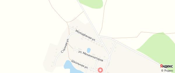 Молодежная улица на карте деревни Печенкино с номерами домов