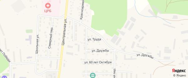 Улица Труда на карте Миасского села с номерами домов