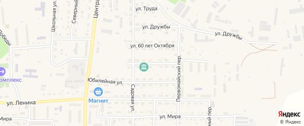 Октябрьская улица на карте Миасского села с номерами домов