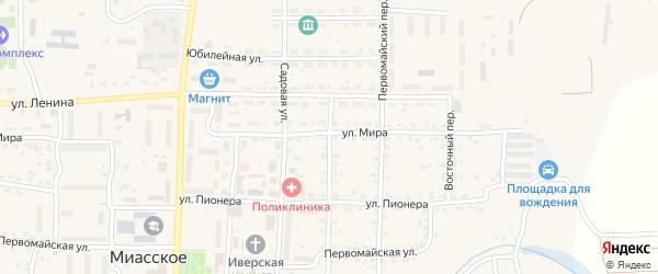 Почтовая улица на карте Миасского села с номерами домов