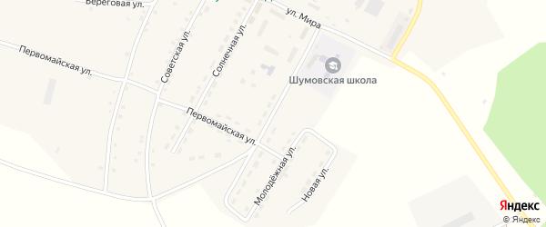Школьная улица на карте села Шумово с номерами домов