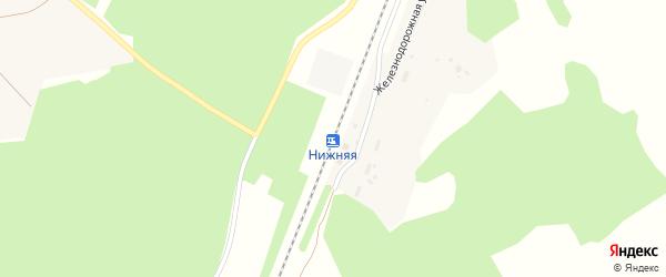 Железнодорожная улица на карте Нижней станции с номерами домов