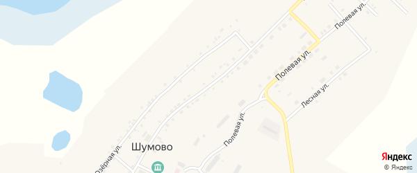 Советская улица на карте села Шумово с номерами домов