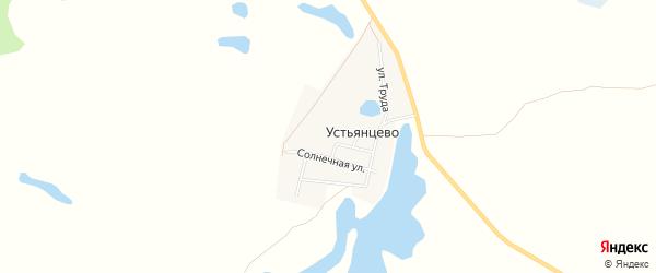 Карта деревни Устьянцево в Челябинской области с улицами и номерами домов