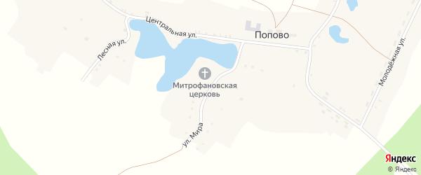 Улица Мира на карте села Попово с номерами домов