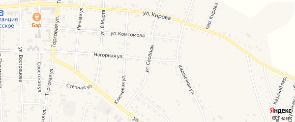 Улица Свободы на карте Миасского села с номерами домов