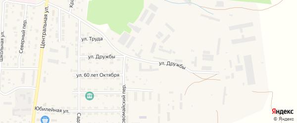 Улица Дружбы на карте Миасского села с номерами домов