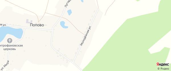Молодежная улица на карте села Попово с номерами домов