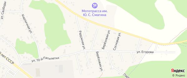 Студенческая улица на карте Миасского села с номерами домов