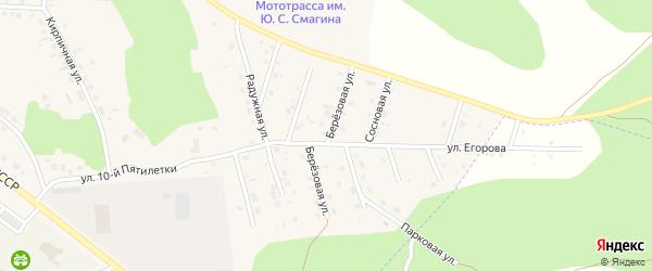 Березовая улица на карте Миасского села с номерами домов