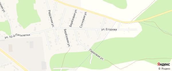 Цветочная улица на карте Миасского села с номерами домов